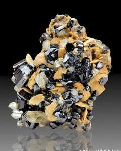 Cassiterite et Quartz sur Siderite