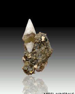 Calcite sur Quartz et Pyrite