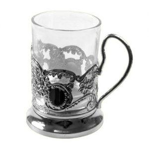 Verre à thé russe avec porte-verre