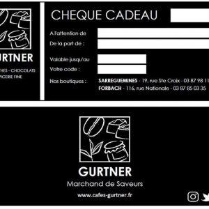 Chèque CADEAU GURTNER