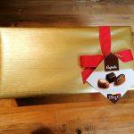 Ballotin chocolats belges avec ruban rouge 250 gr
