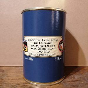 Bloc foie gras mi-cuit avec morceaux Godard 400 gr