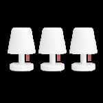 Fatboy : Set de 3 lampes exterieur et intérieur edison « the mini »