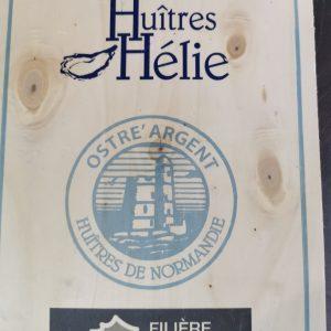 Huîtres Hélie Saint Vaast la Houge prix unitaire d'1€ l'huître