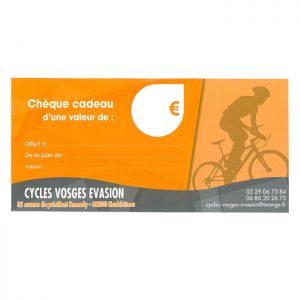 Chèque cadeau Cycles Vosges Évasions