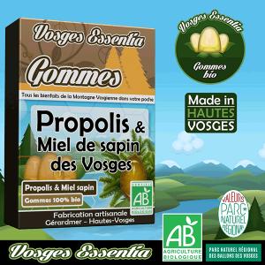 Gommes bio à la propolis et au miel de sapin AOP Vosges.